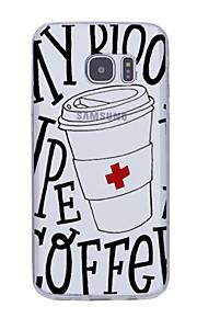용 울트라 씬 패턴 케이스 뒷면 커버 케이스 단어 / 문구 소프트 TPU 용 Samsung Note 5 Note 4