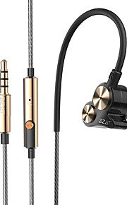 마이크와 귀에 이어폰 소음 스포츠 이어폰 DJ가 고음질베이스 헤드셋 이어폰에 DT-05을 두 번 동적 3.5mm의 dzat