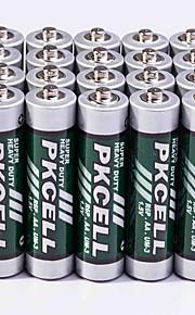 pkcell r03p aa kolzink batteri 1.5v 20 pack super heavey tull