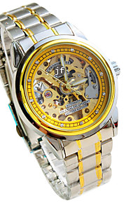 Masculino relógio mecânico Automático - da corda automáticamente Lega Banda Prata marca