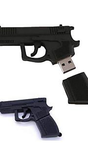 16gb stilig pistol formet u disk silisium usb flash-minne svart