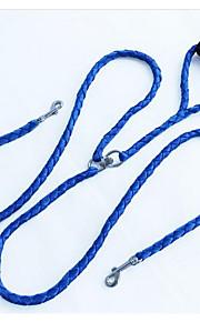 개 가죽끈 조절 가능/리트랙터블 안전 격자무늬/체크 레드 블루 옐로우 고무