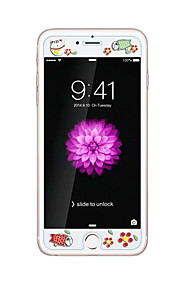 voor Apple iPhone 6 / 6s 4.7inch gehard glas transparante voorkant screen protector met reliëf cartoon patroon glow in the dark fortuin