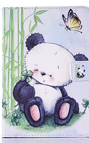 For IPad 234 Case Cover Panda Pattern PU Skin Material Flat Protective Shell