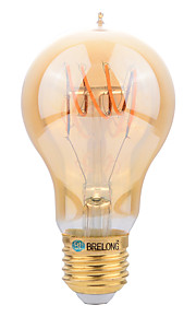 4W E27 LED필라멘트 전구 A60(A19) SMD 400 lm 따뜻한 화이트 장식 AC 220-240 V 1개