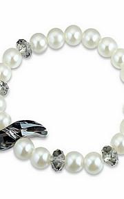 Armbånd Kæde & Lænkearmbånd Perle Cirkelformet Natur Smykker Gave Sort Hvid Blå Pink,1 Stk.