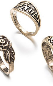 Ringe Euro-Amerikansk Daglig Smykker Legering Ring 1 Sæt,En størrelse Gylden