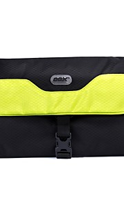GOX Travel Bag for Unisex Travel Storage Genuine Leather-Orange Yellow Blue
