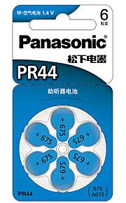 Panasonic PR-44CH/6C Coin Button CellC Zinc Battery 1.4V 6 Pack