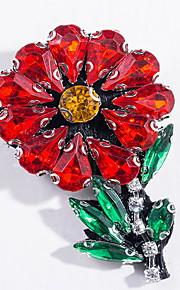 Brocher Blomstformet Legering Rød Enkelt design Smykker Daglig