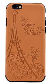 Per Decorazioni in rilievo Fantasia/disegno Custodia Custodia posteriore Custodia Torre Eiffel Morbido Similpelle per AppleiPhone 7 Plus