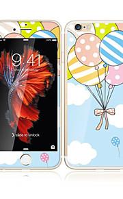アップルのiPhoneのための6S / 6ソフトエッジフルスクリーン・カバレッジ・フロントスクリーンプロテクターとバックプロテクターバルーン漫画のパターンで4.7強化ガラス