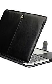 for MacBook Air 11.6 13.3 tablett luksus ultra slank magnetisk folio stå Crazy Horse mønster skinnveske deksel