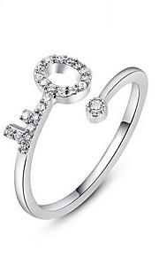 Ringe Andre Mode Personaliseret Daglig Afslappet Smykker Legering Zirkonium Sølvbelagt Ring 1 Stk.,En størrelse Sølv