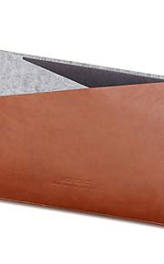 för Apple MacBook Air / Pro 13,3 tum pro 15,4 ärmar laptopväska PU läder med filt enkel fritid stil datorväska färg