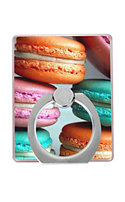 Macarons Pattern Plastic  Ring Holder / 360 Rotating for Mobile Phone