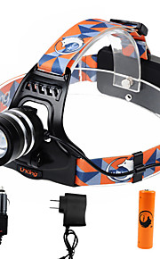 U'king ZQ-G70000CBlack CREE T6 LED 2000LM 3Mode Adjustable Focus Headlamp Bike Light Kit for Camping/Hiking/Caving Everyday Use Cycling