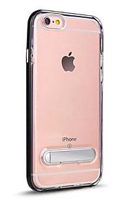För med stativ Genomskinlig fodral Skal fodral Enfärgat Hårt PC för AppleiPhone 7 Plus iPhone 7 iPhone 6s Plus iPhone 6 Plus iPhone 6s