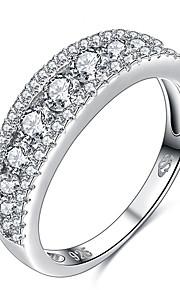 Ringe Rund form Andre Unikt design Geometrisk Personaliseret Euro-Amerikansk Bryllup Fest Speciel Lejlighed Daglig Afslappet SmykkerSølv