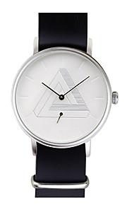 Unissex Relógio de Moda Quartzo Tecido Banda Preta Branco Vermelho Marrom Amarelo marca