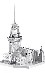 3D palapeli Metalliset palapelit Gift Rakennuspalikat Rakennuslelu Kuuluisa rakennus Arkkitehtuuri Metalli 14 vuotta ja enemmän