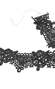 Necklace Non Stone Choker Necklaces Jewelry Daily Casual Others Flower Style Euramerican Fashion Personalized Lace 1pc Gift Black White