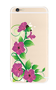 Para Transparente Diseños Funda Cubierta Trasera Funda Flor Suave TPU para AppleiPhone 7 Plus iPhone 7 iPhone 6s Plus iPhone 6 Plus