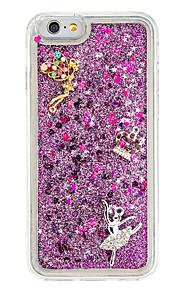 För Strass GDS (Gör det själv) fodral Skal fodral Sexig kvinna Mjukt TPU för AppleiPhone 7 Plus iPhone 7 iPhone 6s Plus/6 Plus iPhone