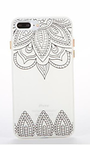 Voor Glow in the dark Patroon hoesje Achterkantje hoesje Mandala Zacht TPU voor AppleiPhone 7 Plus iPhone 7 iPhone 6s Plus iPhone 6 Plus