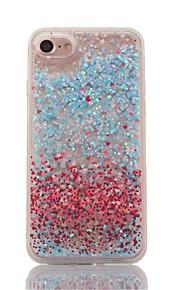 For Flowing Liquid Transparent Case Back Cover Case Heart Hard PC for Applei Phone 7 7 Plus 6S 6Plus SE 5S 5