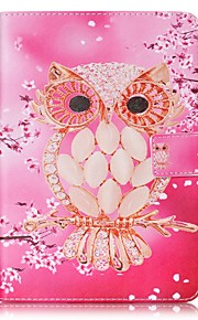 For Card Holder Wallet with Stand Flip Pattern Case Full Body Case Owl Hard PU Leather for Apple iPad Mini 4 iPad Mini 3/2/1