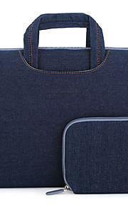 til Apple MacBook air / pro 15,4 tommer håndtasker Oxford klud læder taske simple fritid stil notebook taske ensfarvet