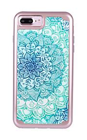 Per Resistente agli urti Placcato Fantasia/disegno Custodia Custodia posteriore Custodia Fiori Mandala Resistente PC per AppleiPhone 7
