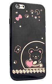 Para Com Strass Estampada Capinha Capa Traseira Capinha Desenho Coração Rígida Acrílico para AppleiPhone 7 Plus iPhone 7 iPhone 6s Plus