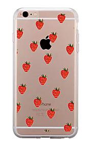 För Genomskinlig Mönster fodral Skal fodral Frukt Mjukt TPU för AppleiPhone 7 Plus iPhone 7 iPhone 6s Plus iPhone 6 Plus iPhone 6s iPhone