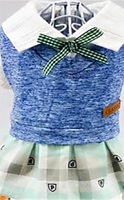 Dog Dress Dog Clothes Spring/Fall Solid Cute
