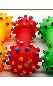 Игрушка для собак Игрушки для животных Игрушки с писком Скрип Резина Желтый Красный Зеленый