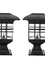 2本のガーデナーンパスウェイの芝生のランプの景色の装飾led白い光ソーラーパワーグラウンドインサートセンスランプ
