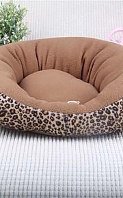 Katze Hundebett Haustier Bett weiche Kissen Leopard Stoff
