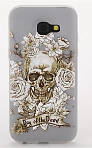 For Samsung A3(2017) A5(2017) Glow in the Dark Frosted Pattern Case Back Cover Case Skull Soft TPU for  A7(2017)