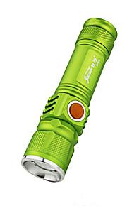 Iluminação Lanternas LED LED 350 Lumens 3 Modo LED Bateria de Lítium Foco Ajustável Prova-de-Água Recarregável Super LeveCampismo /