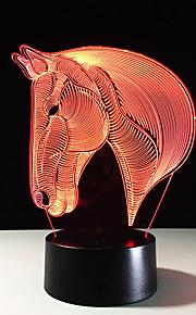 7 kleuren paard hoofd lamp 3D visuele led nachtverlichting voor kinderen raken usb tafel lampara lampe baby slaapt nachtlampje