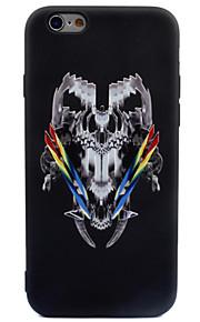 Per Effetto ghiaccio Fantasia/disegno Custodia Custodia posteriore Custodia Teschio Morbido TPU per AppleiPhone 7 Plus iPhone 7 iPhone 6s
