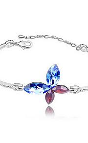 Dame Kæde & Lænkearmbånd Smykker Venskab Mode Krystal Legering Geometrisk form Rød Grøn Blå Lys pink Lyseblå Smykker For Fest Fødselsdag1