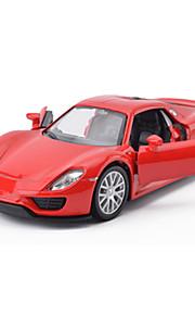 Macchina da corsa Veicoli a molla Giocattoli Car 1:28 ABS Rosso Blu Grigio Modellino e gioco di costruzione