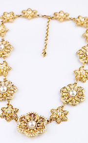 Women's Strands Necklaces Flower Chrome Unique Design Fashion Yellow Jewelry For Wedding Congratulations 1pc