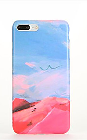 Voor Patroon hoesje Achterkantje hoesje Landschap Zacht TPU voor AppleiPhone 7 Plus iPhone 7 iPhone 6s Plus iPhone 6 Plus iPhone 6s