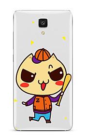 Til Gjennomsiktig Mønster Etui Bakdeksel Etui Tegneserie Myk TPU til XiaomiXiaomi Mi 5 Xiaomi Mi 4 Xiaomi Mi 5s Xiaomi Mi 5s Plus Xiaomi