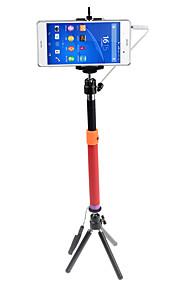 Selfie-stang Etbensstativ Kabelkoblet Forlængbar med Kabel Selfie-stang for Android smartphone iPhone