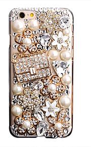 För Strass GDS (Gör det själv) fodral Skal fodral Glittrigt Mjukt TPU för AppleiPhone 7 Plus iPhone 7 iPhone 6s Plus iPhone 6 Plus iPhone